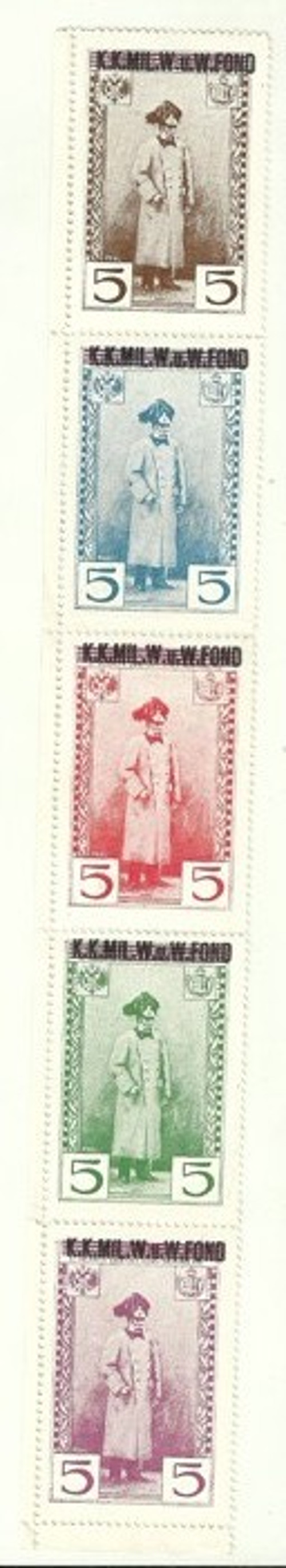 5x Zálepka František Josef I FJI K.K. Fond