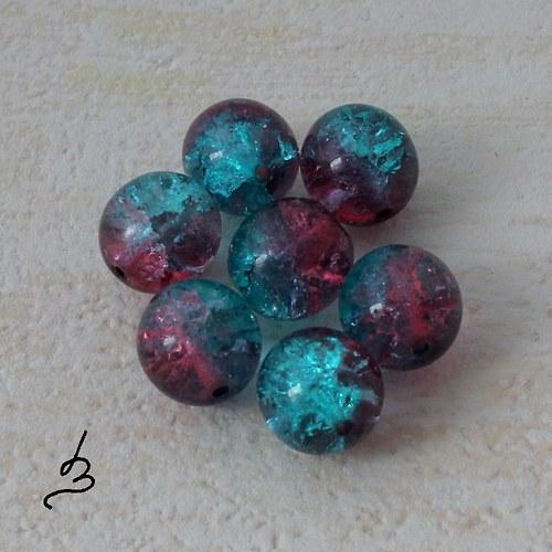 Kuličky 10 mm smaragdovofialové - 6 ks