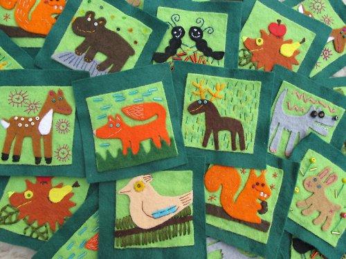 Pexeso pro začínající karbaníky - Lesní zvířátka