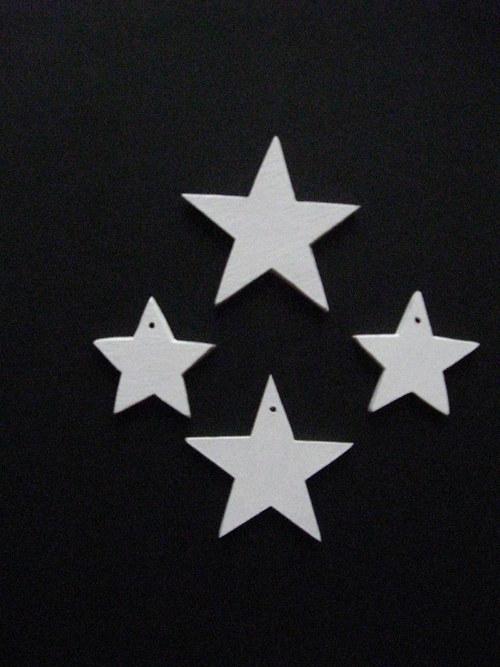 Vánoční hvězdičky - bílé