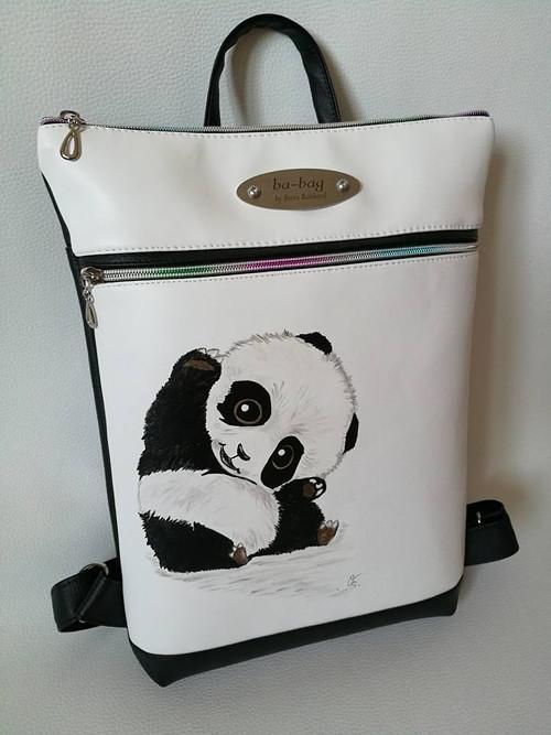 Batůžek malovaný na přání/panda
