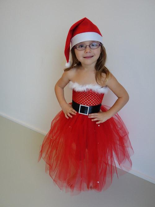TUTU šaty, šatičky - Santa Claus