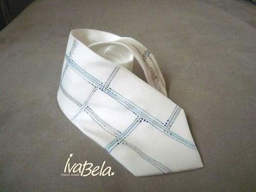 Kravata technická modrošedá