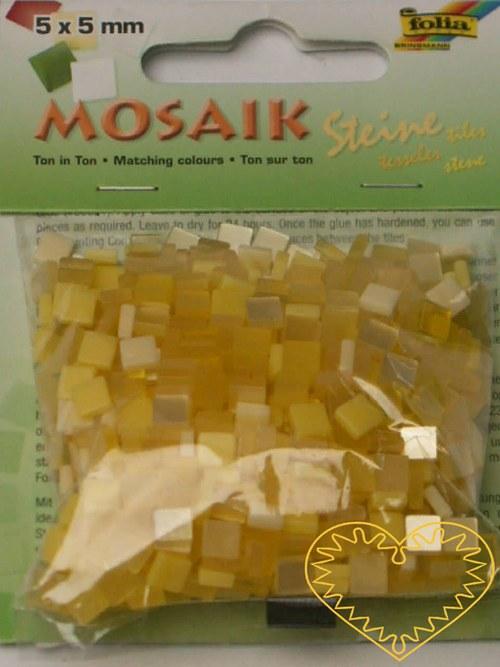 Pryskyřicová mozaika - žlutý mix - 45 g