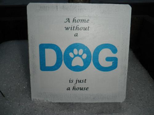 """Vintage dřevěný podšálek \""""DOG\"""""""