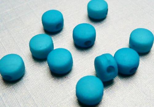 Plastové disky 6 mm - tyrkys / 15 ks