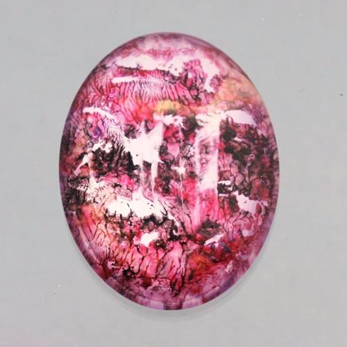 Kabošon: sklo, 4*3 cm