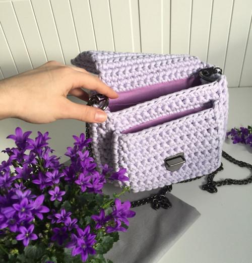 Crossbody bag LILA - - háčkovaná kabelka