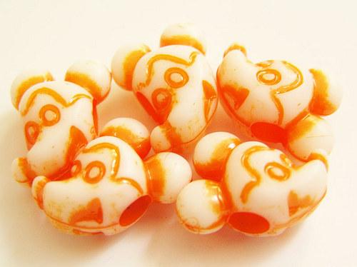 Dětské korálky - myšák oranžový