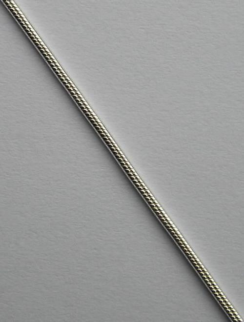 Kulatý stříbrný řetízek - délka 45cm