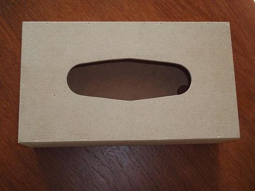 Krabička z MDF velká, přírodní - na kapesníky