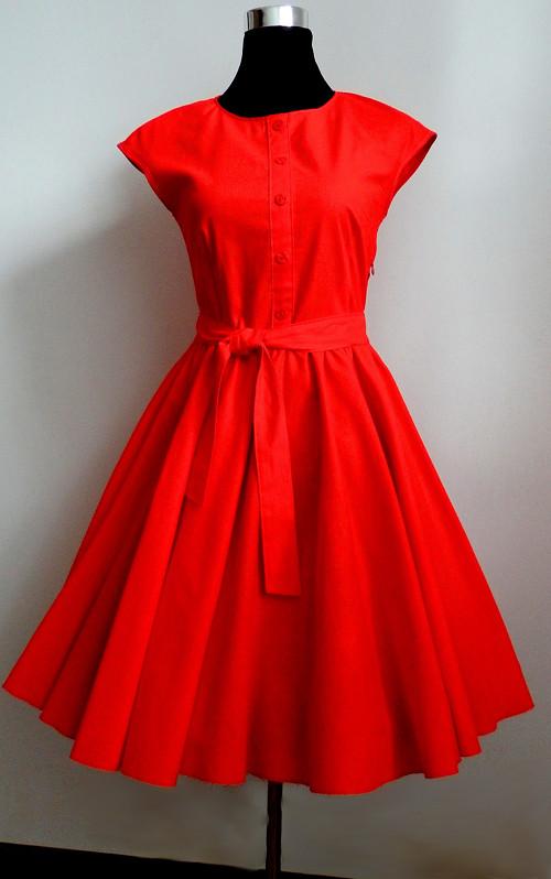 Červené retro šaty