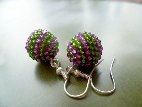 kuličkospirálky zeleno-růžové
