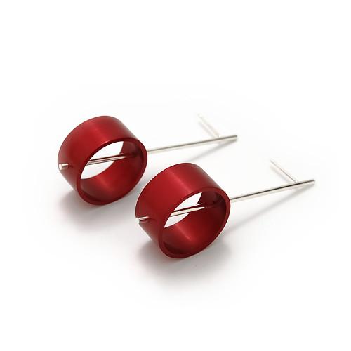 hliníkové náušnice - kyvadla, kroužky