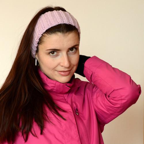 Merino růžová čelenka