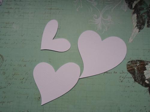 Srdíčka 3ks - barva na výběr
