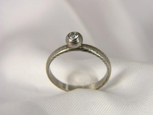 Zásnubní prsten Globur z damascénské oceli