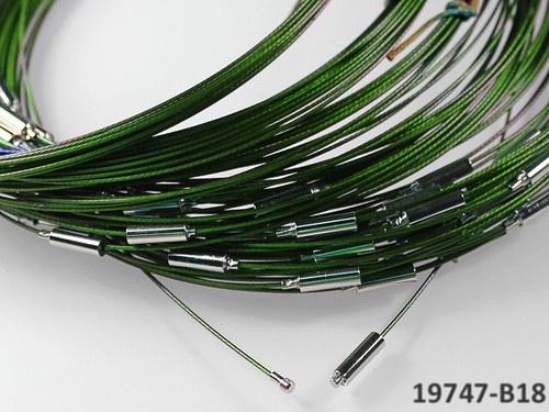 19747-B18 Lanko ZELENÉ 45 s hladkým šroubkem