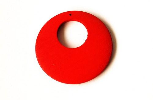 Dřevěné kolečko - červené