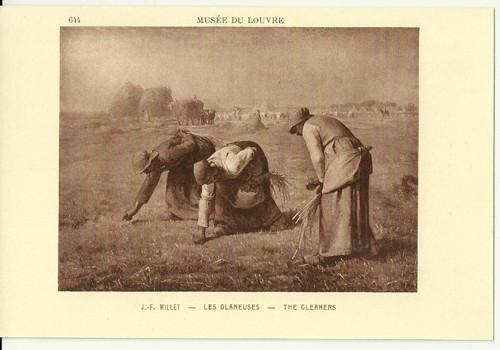 Umělecká pohlednice J.F.Millet