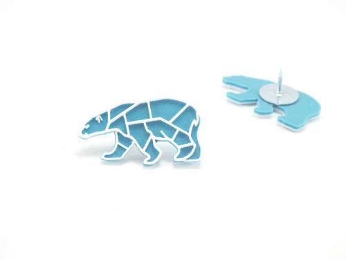 Připínáček lední turqouise blue/traffic white