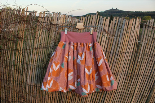 Balonová sukně Lištičky starorůžové