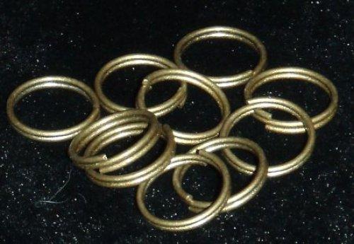 Spojovací kroužky dvojité bronz 8mm 25 ks
