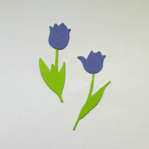 Výsek - tulipány sv.fialové  2ks