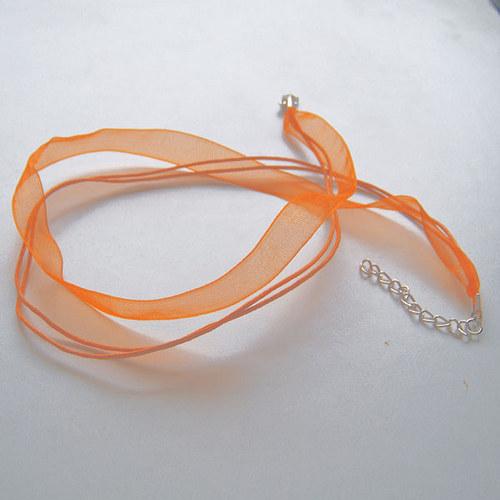 organza šňůrka 2+1/ 45cm/ oranžová / 1ks