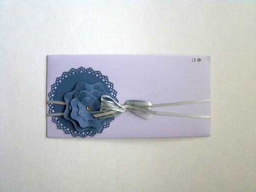 Obálka s kytkou - Svatební 1