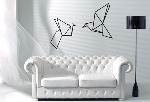 Samolepka na zeď - Origami