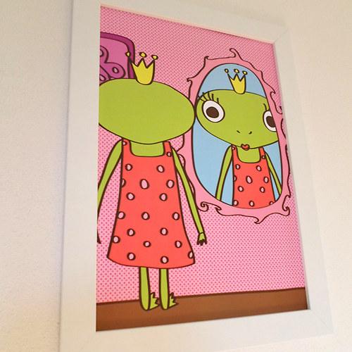 Žabka a zrcadlo (obrázek)