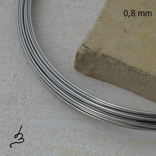 Nerezový drát 0,8 mm polotvrdý - 5 m
