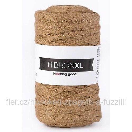 Hoooked RibbonXL - světle hnědá (130 m)