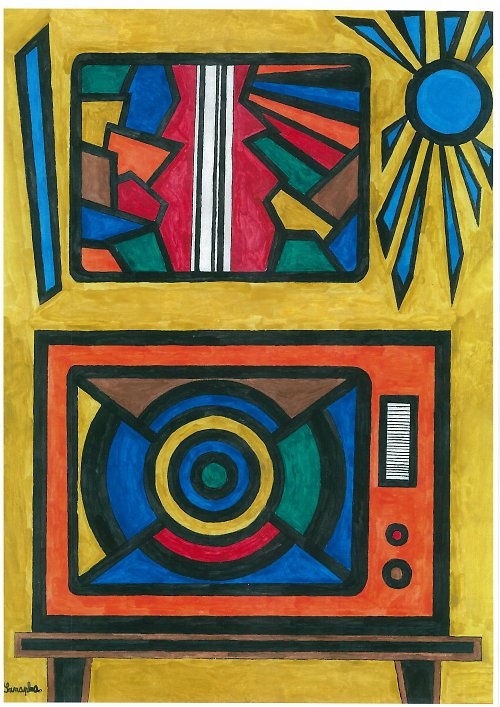 Plakát-abstrakce-Fantasmagorická TV
