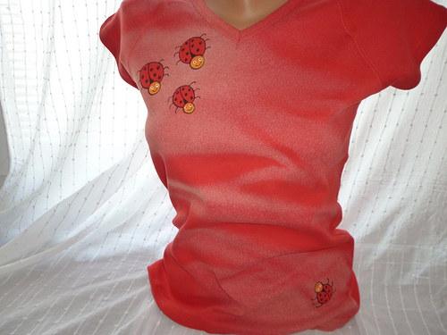 tričko beruškové- malované