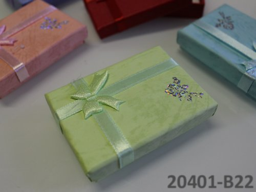 20401-B22 Dárková krabička nízká 5/7/1.5 SV.ZELENÁ