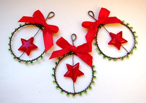 Vánoční ozdoby - kolečko hvězdička