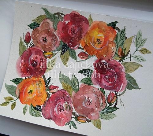Z růží spleteno