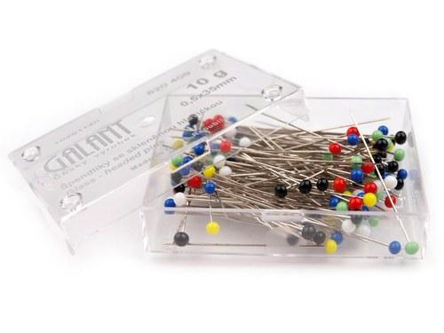 Špendlíky se skleněnou hlavičkou - 150 ks