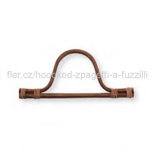 Ucho na tašku Hoooked, pár - 30x14cm, bambus tmavý