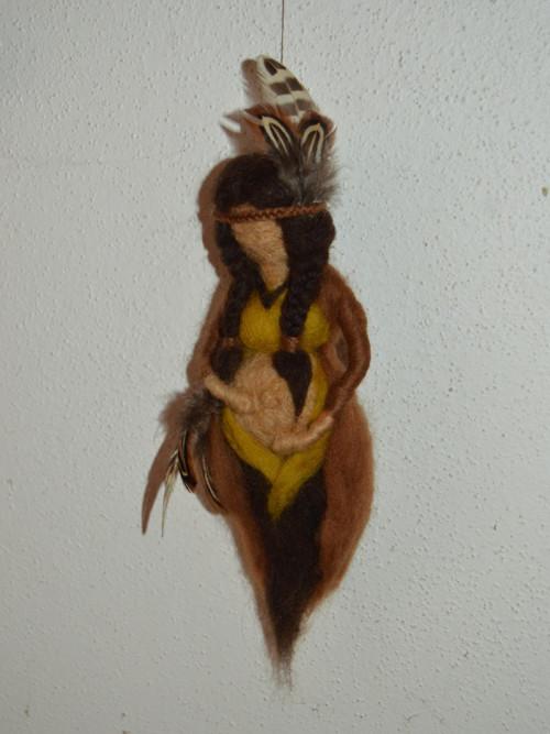 Těhotná indiánka