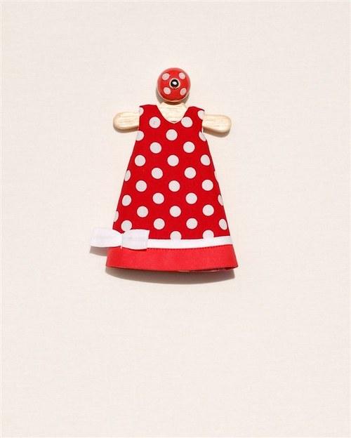 červené šaty lentilky (velikost S)