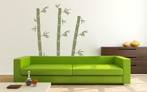 Bambus - samolepka na zeď (048)