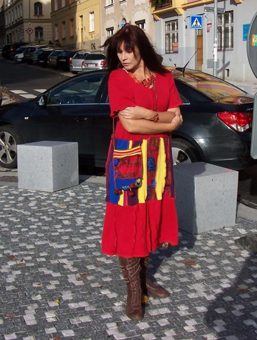 ethno patchwork šaty 12