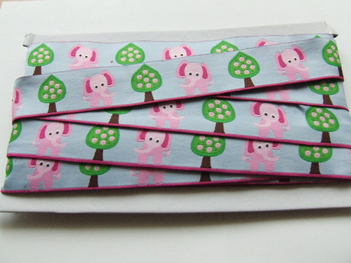 Vzorovka dětská růžoví sloni 30mm