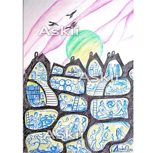 Prostory čarokrásné - autorská kresba