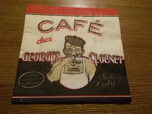 Ubrousek na decoupage - café Georges