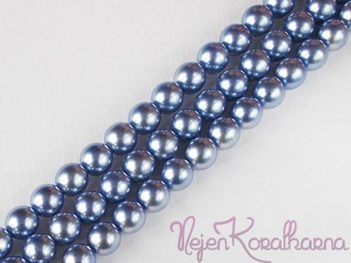 Voskové perle světle modrá 8mm