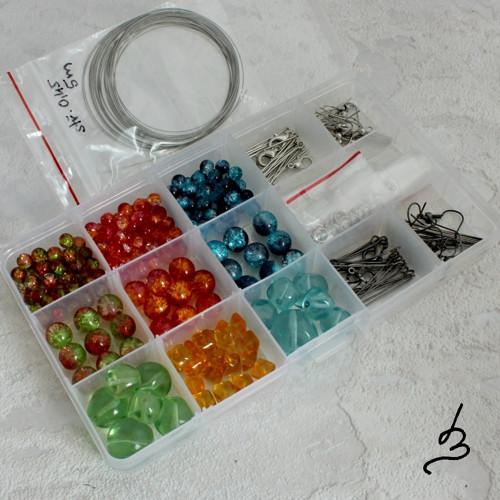 Kreativní sada k výrobě šperků - sklo VIII.